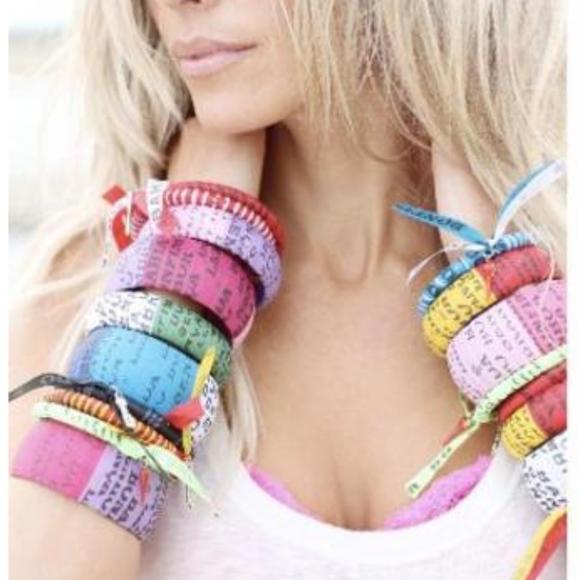 Live Worldly Jewelry - PINK/PURPLE Brazilian-Eco Bangle LARGE size